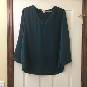 J Crew Teal Dress Blouse
